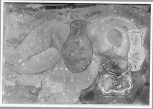 Stilleven met Perzische vaas en liggend naakt
