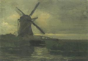 Broekzijder mill in the evening