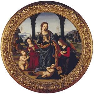 Maria met kind, Johannes de Doper en twee engelen