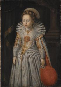 Portret van prinses Elisabeth Amalia (1621-1628) van Pfalz-Zweibrücken