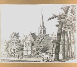 De hervormde kerk te Hees, gezien vanuit het noordoosten