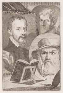 Portretten van Josse van Liere (....-1583), Cornelis Cort (....-1578) en Dirck Volckertsz. Coornhert (1522-1590)