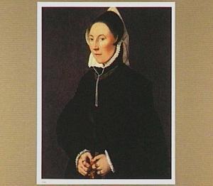 Portret van een vrouw met rozenkrans