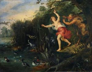 Landschap met Pan en Syrinx (Metamorfosen 1:689-713)