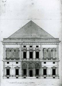 Villa Spinola di San Pietro: Plan van de gevel