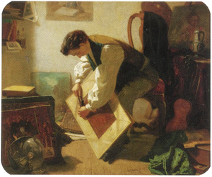 Inlijsten van het schilderij