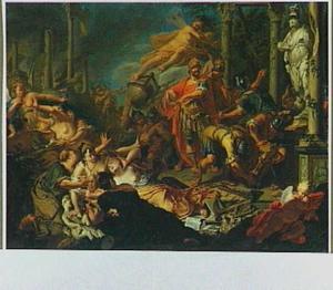 Mars verwoest de tempel van Minerva, waardoor de vrije kunsten terneergeslagen zijn