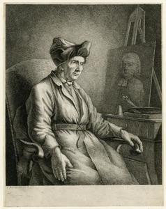 Portret van de schilder  J.M. Falbe (1709-1782)