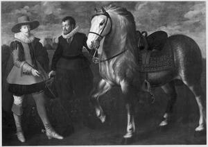Portret van een onbekende man met zijn bediende