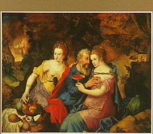 Lot wordt door zijn dochters gevoerd (Genesis 19:30-38)