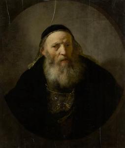 Een oude man in fantasie kledij