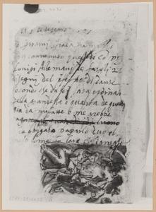 Judith houdt het hoofd van Holofernes boven de zak die haar dienares ophoudt;