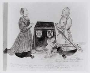 Portret van Henric van Voirde (?-1515) en Hillegont van Loenersloot (?-?)
