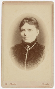 Portret van Georgetta Louisa Sophia Secunda Visscher (1841-1886)