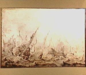 Zeeslag bij stormachtig weer