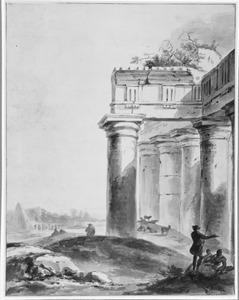 Ruïne van een Romeinse tempel
