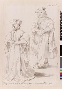 Studie van Johan II van Croÿ en Joost van Lalaing