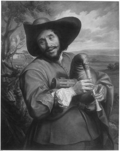 Portret van  François Langlois dit Chartres (1589-1647) als 'savoyard'