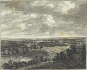 Panoramalandschap met rivier