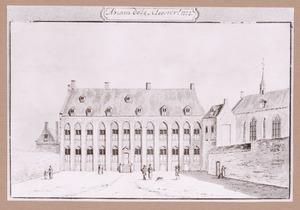 De binnenplaats van het Abraham Doleklooster te Utrecht
