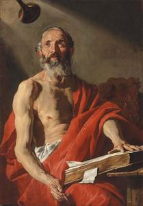 De heilige Hieronymus hoort de bazuin van het Laatste Oordeel