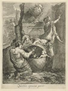 Erichthonius wordt gevonden door de drie dochters van Cecrops