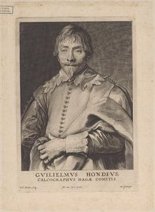 Portret van Willem Hondius (1598-1652/1658)