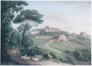 Gezicht op Villa Mattei (Villa Celimontana) in Rome