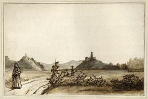Gezicht op de Drachenfels en Godesburg, gezien vanaf het noorden
