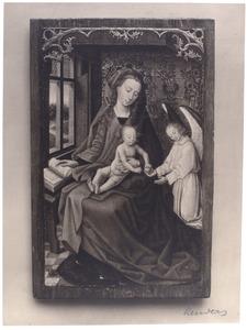Maria met kind en een engel