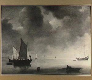 Verschillende schepen in kalm water