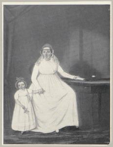 Portret van Lijsbeth Pietersdr. Kat (1770-1823) en Catharina Margaretha Costerus (1801-1820)