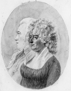 Dubbelportret van Jan Teding van Berkhout (1756-1806) en Elisabeth Sophia van Sypesteyn (1756-1800)