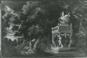 Boslandschap met Theseus op weg naar Athene