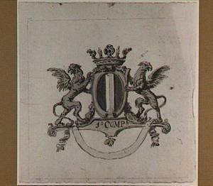 Ontwerp voor een vaandel met het wapen van Dordrecht