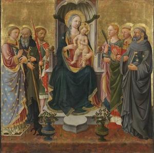 Maria met Kind en zes heiligen