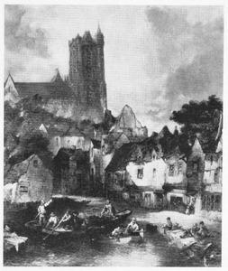 Dordrecht: stadsgezicht met Grote Kerk