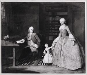 Portret van Jan (Jacob) van Stamhorst (?-1784), Belia van den Heuvel (?-1765) en Alida van Stamhorst (?-1806)
