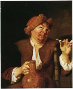 Rokende man met een kruik