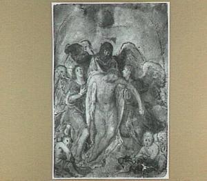 De dode Christus door engelen beweend