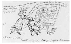 Schets op een brief van P.C. Wonder aan Ellen Adderley,