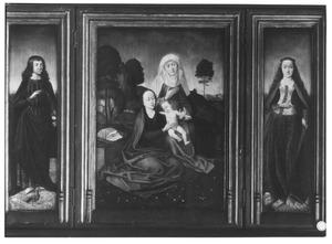 H. Johannes (linkerluik) Anna-te-Drieën (middendeel) H. Catharina (rechterluik)