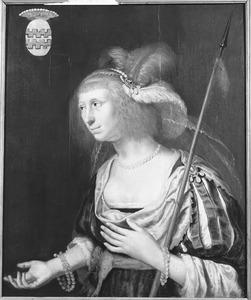 Portret van Christina van Arkel ( -1662)
