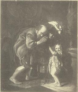 Diogenes zoekt met een lantaarn een eerlijke man