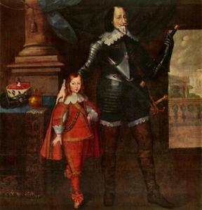 Dubbelportret van Maximiliaan I, keurvorst van Beieren (1573-1641) en Ferdinand Maria keurprins van Beieren (1636-1679)