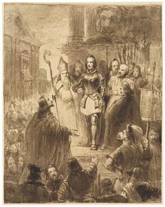 Jeanne d' Arc voor haar rechters te Rouen