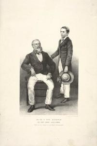 Portret van Philipp Franz von Siebold (1796-1866) en Alexander von Siebold (1846-1911)