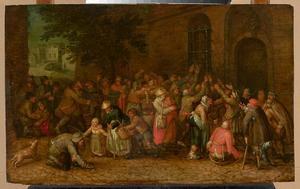 Een van de werken van Barmhartigheid: Het uitdelen van brood
