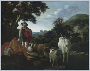 Landschap met Mercurius, Argus en Io als koe