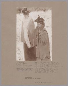 Twee vrouwen in de sneeuw